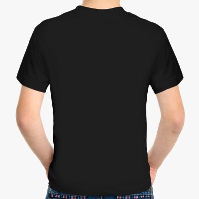 Детская футболка Fruit of the Loom (черная, dtg)