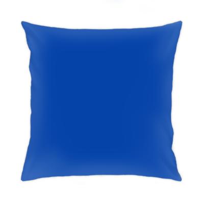 Подушка 35x35 см, синяя обратн