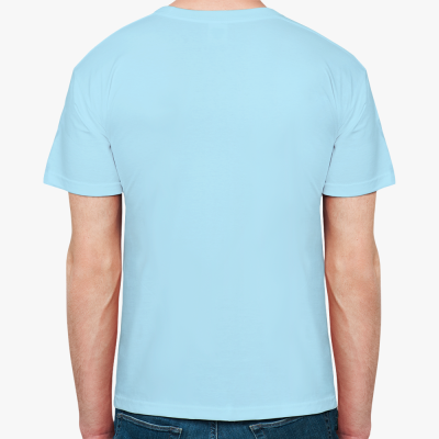 Мужская футболка Fruit of the Loom, голубая