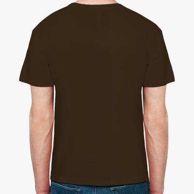 Мужская футболка Fruit of the Loom, шоколадная