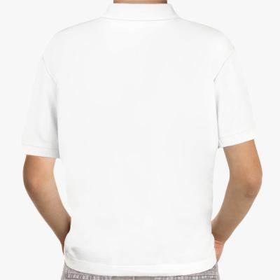 Детская рубашка поло Shady Glen, белая