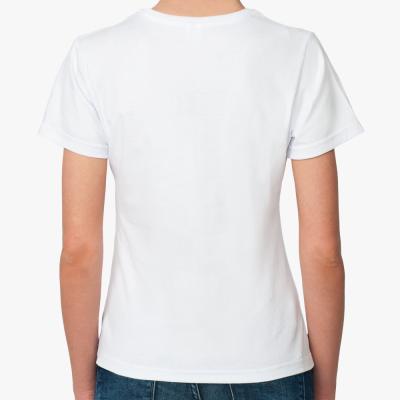 Жен.футболка с гол. коровом
