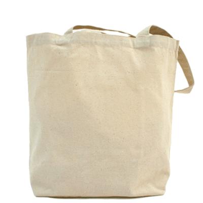 Холщовая сумка с матрёшкой