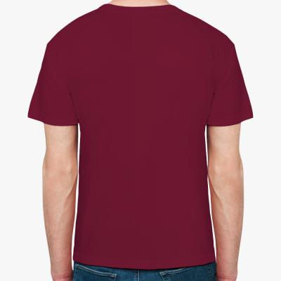 Мужская футболка Fruit of the Loom, бордо
