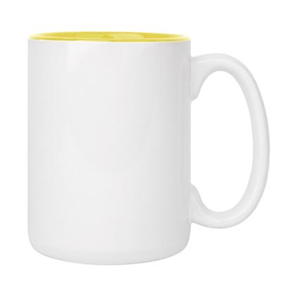 Большая кружка бел/желт (420 мл)