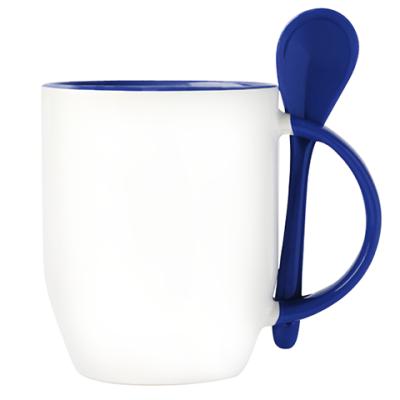 Кружка с ложкой (синяя)