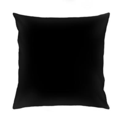 Подушка 50x50 см, черная обратная сторона