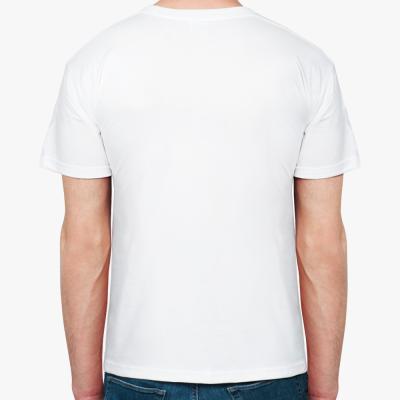 "Мужская футболка белая ""Лошадка Солдат"""
