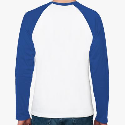 Реглан с длинным рукавом (белый/синий)
