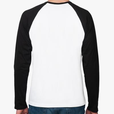 Реглан с длинным рукавом (белый/черный)