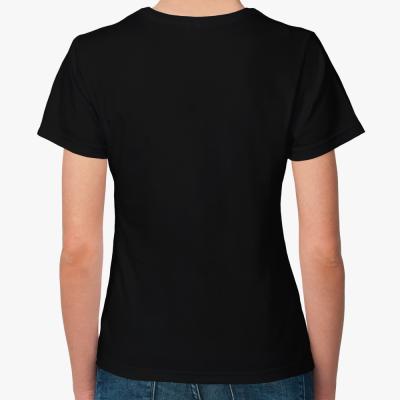 """Женская футболка """"Русские в GP2"""", черная"""