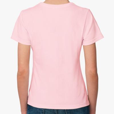 Женская футболка Born 2 Ski черный (разные цвета)