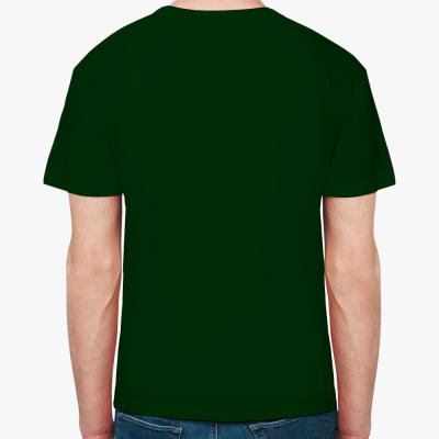 Мужская футболка Fruit of the Loom, темно-зеленая