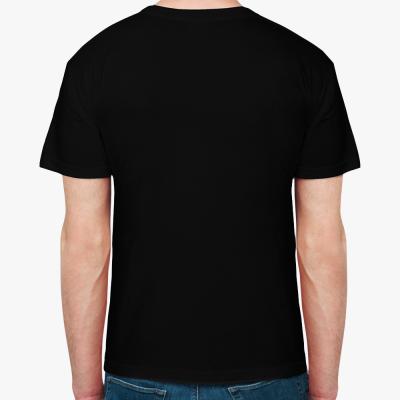 "Мужская футболка черная ""Лошадка Солдат"""