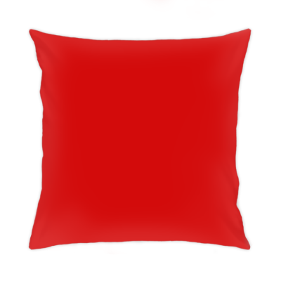 Подушка 35x35 см, красная обратная сторона