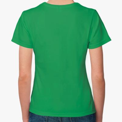 Женская футболка Fruit of the Loom, зеленая