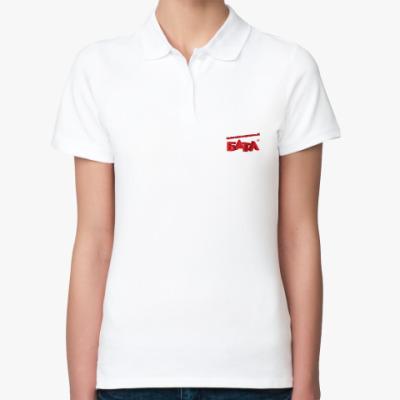 Женская рубашка поло Женская рубашка поло Fruit of the Loom, белая