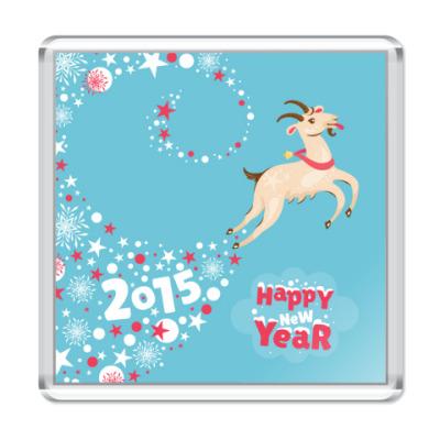 Магнит Новогодняя козочка 2015