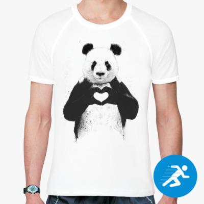 Panda black and white drawing