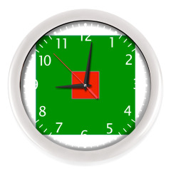 Часы, белые (белые цифры)