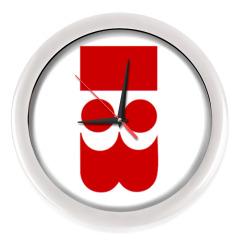 Часы, белые (без цифр)