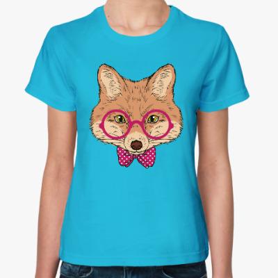 Женская футболка Лиса в очках