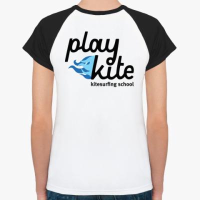 Женская футболка реглан  Красотка Плейкайт
