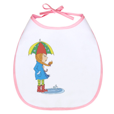 Слюнявчик Девочка с зонтиком