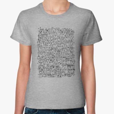 Женская футболка 121 кот